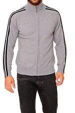 Gestreifte Herren-Pullover & -Strickware mit Stehkragen und Reißverschluss