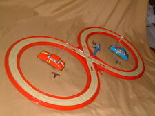 1950 TECHNOFIX NR. 248 CLOCKWORK TIN RENNBAHN (RACE COURSE), WORKS GREAT C~VIDEO