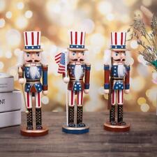 America Wood Nutcracker Soldiers Walnut Soldier Christmas Display By One Set