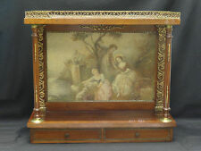 Antique 19c Louis Xv Style Wall Tabernacle Cabinet Altar Niche w/ Painted Panel
