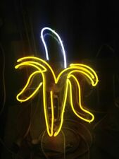 "New Banana Fruit Acrylic Neon Sign 14"" Bedroom Gift Light Lamp Decor"