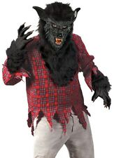 WereWolf Costume Adult Black Fur Deluxe Cosplay Were Wolf WareWolf - Fast Ship -