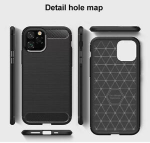 Mobile Phone Case iPhone 11 Pro Max Case Carbon Fiber Shockprof Protective Cover