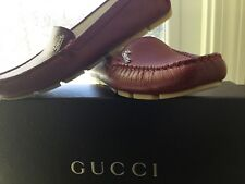 7396d482b7ee Gucci! Rusty-red leather Cellarius driving moccasins with rubber soles-size  6.5.