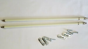 Graber Swivel End Sash Curtain Rod Set extend 12 to 21 inches
