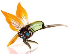 "Hummingbird figurine, blown glass ""Murano"" Style bird. Hand Made in Russia"