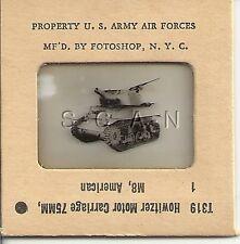 WWII US 35mm Recognition Slide Negative- Artillery Tank- M8 75mm Howitzer- Front