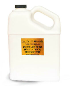 Ethanol Non-Denatured Alcohol 200 Proof *Food Grade* 100% Many Sizes 8oz - 3 Gal