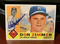 1960 Topps - DON ZIMMER #47 AUTOGRAPH BUYBACK SP /14 1/1 w/ HOLO Dodgers NO RC