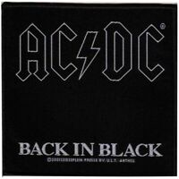 AC/DC Back In Black Patch Official Rock Band Merch New