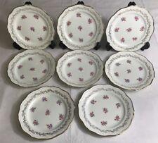 Lot1 De 8 Petites Assiettes En Demi Porcelaine L'amandinoise France D 19,5 Cm