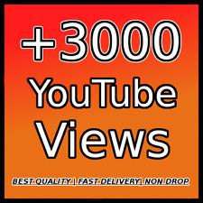 3000 YOUTUBE VIEWS |High Quality| |High Retention| |Non Drop|
