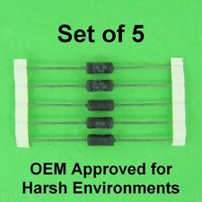 33 Ohm 3.25 Watt 5% Dale Wirewound Power Resistor OEM Approved 3W, Set of 5