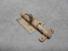 1930s French Vintage  IRON sliding Door Latch Lock Bolt & keeper