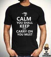 Yoda Keep Calm T shirt Funny Star Wars Parody Tee Film Inspired t Cool Gift Mens