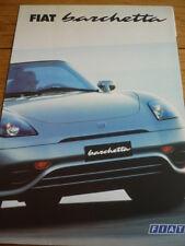 FIAT BARCHETTA SALES BROCHURE 2000 JM