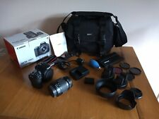 Canon EOS 200D Digital Camera EF-S 18-55mm III kit  bag, spare batteries filters