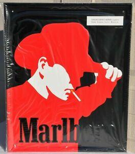 SEALED NEW Vintage Marlboro Man Cowboy Cigarettes Metal Display Sign Black 1997