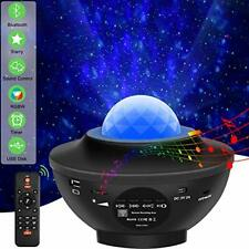 USB, Bluetooth and Sound Activated Projector with Starry Star Night Light.
