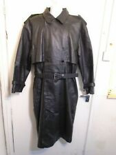 BRAND NEW VINTAGE HIND HEAVY LEATHER TRENCH COAT JACKET SIZE XL WITH LINER