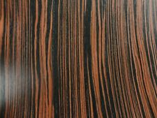 "Ebony Macassar prefinished composite wood veneer 24"" x 24"" on paper back # 603"