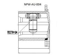 Set rótulas, árbol de transmisión / INTERIOR AUDI A5 / S5 07 A4 Avant 08