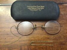 Vintage Antique Eyeglasses Spectacles with Hair Pin fine Chain gold nose piece