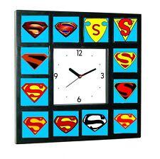 Superman Man of Steel Chest Emblem logo S history Clock