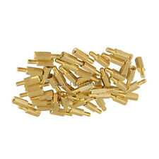 50pcs New Brass Hex Stand-Off Pillars Male to Female 6mm + 10mm M3 Good Quality