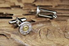 44 Magnum Starline Silver Tone Nickel Bullet Wedding Cuff Links FREE SHIP