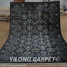 Yilong 6'x9' Handmade Classic Silk Rugs Hand Knotted Oriental Carpet Online 1572