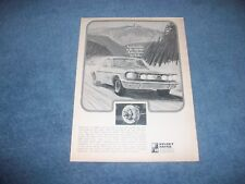1966 Kelsey-Hayes Disk Brakes Vintage Ad with Ford Mustang Fastback