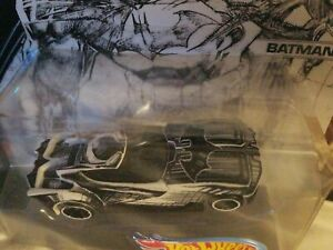 BATMOBILE BATMAN SKETCHED SERIES HOT WHEELS 2017 DC JIM LEE