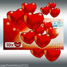 10 Herzballon rot Amscan #48307