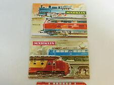 AV364-0,5# 2x Märklin Catalogue (without Coupon): 1968/69 D DM + 1965/66 d dm