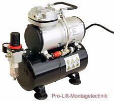 Airbrush Kolben - Kompressor AS-186 Druckminderer usw. 3 Liter Lufttank  01762