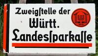 Original Emailschild Württembergische Landessparkasse seltenes Sammlerstück