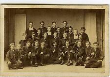 PHOTO CDV dos muet une classe de garçon pose avec des religieux albumen 1855