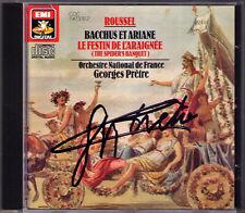 Georges PRETRE Signiert ROUSSEL Bacchus et Ariane Le Festin de l'Araignée EMI CD