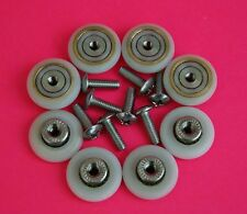 8 x Shower Door ROLLERS/Runners/Wheels 19mm Diameter Replacement Parts L017