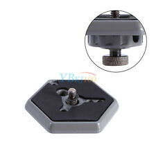 """Hexagonal Quick Release Plate Replaces #3049 W/ 1/4"""" - 20 Screw BT For Manfrotto"""