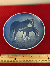 "Mors Dag 1972 Copenhagen 6"" Plate B&G Mothers Day Made in Denmark Horses"