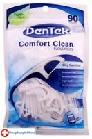 BL Dentek Floss Picks Comfort Clean Fresh Mint 90 Count - Two PACK