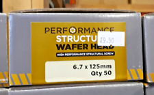 PERFORMANCE STRUCTURAL WAFER HEAD SCREWS 6.7x125mm