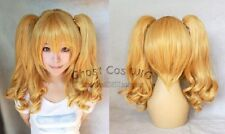 HOT! Beautiful short wig 2 long curly pigtails women's cosplay wig