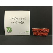 Embrace your inner witch B5543 cling stamp Impression Obsession Halloween stamps