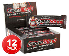 12 x Max's Super Shred Low Carb High Protein Bar 60g - Chocolate