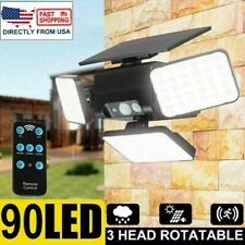 90LEDs Outdoor Solar Street Wall Light Sensor PIR Motion LED Lamp Remote Control