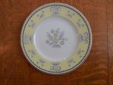 "Wedgwood Yellow Pimpernel bone china 6"" bread plate gold trim W3865"