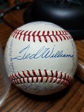 1972 Texas Rangers 1st Year! Team Signed Baseball. TED WILLIAMS NELLIE FOX 28
